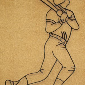 Baseball Player Metal Wall Decor